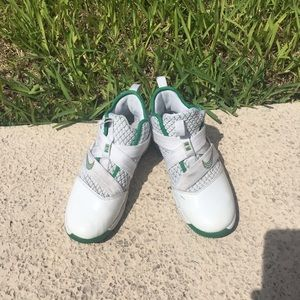 White/green LeBron James Nike w/straps